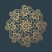 modèle de conception de fond de mandala floral vecteur