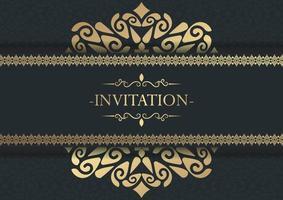 fond de conception de cadre décoratif invitation élégante vecteur