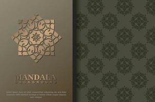 concept de fond de mandala de luxe premium vecteur