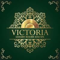 modèle d'étiquette d'hôtel de luxe. illustration de cadres d'ornement royal vintage à la mode. vecteur
