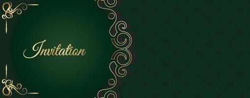 motif ornemental de style de fond invitation de luxe vecteur
