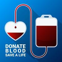 Faire un don de sang plat Illustration