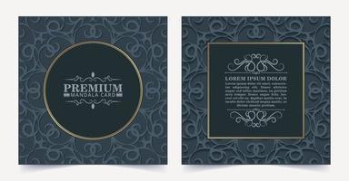 carte décorative florale sombre de luxe vecteur
