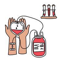 Faire un don de sang vecteur