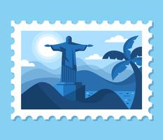 Illustration de paysage d'affranchissement Brésil vecteur