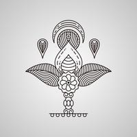 Vecteurs d'art de henné uniques vecteur