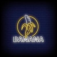 vecteur de texte de style banane néon