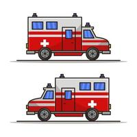 ambulance sur fond blanc vecteur