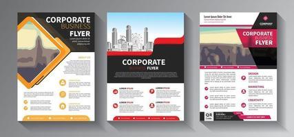 conception de brochure, mise en page moderne de couverture, ensemble de rapports annuels vecteur
