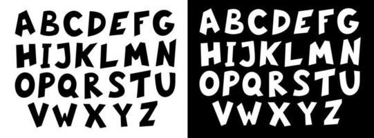 alphabet anglais dessiné à la main vecteur