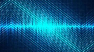 fond d'onde sonore numérique légère, technologie et concept de diagramme d'onde de tremblement de terre vecteur