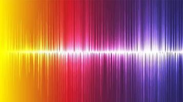 Fond d'onde sonore ultrasonique coloré, concept de diagramme de technologie et d'onde de tremblement de terre vecteur