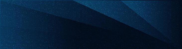 Puce de circuit bleu foncé sur fond de technologie, conception de concept numérique et de sécurité de haute technologie vecteur
