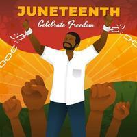juneteenth célébrer la liberté vecteur