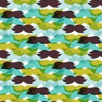 illustration vectorielle de moustaches modèle sans couture. silhouette de coiffeur de mode de pain du visage masculin. vecteur
