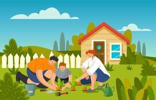 concept de jardinage à la maison vecteur