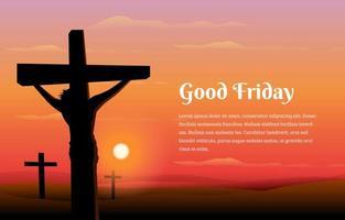 jésus christ bon vendredi concept vecteur