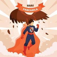 concept de design de jour de pancasila