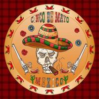 conception d & # 39; illustration sur le thème mexicain de la célébration du cinco de mayo vecteur