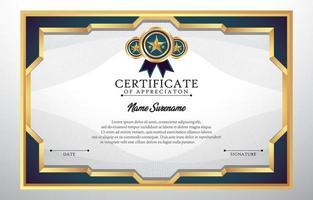 certificat de certificat de concept d'appréciation vecteur