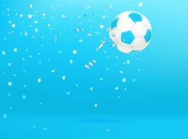 ballon de football avec des confettis. vecteur