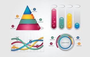 Modèle d & # 39; entreprise infographie moderne 3d vecteur