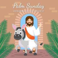 dimanche des palmiers dans un style design plat vecteur