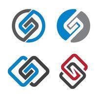 ensemble d'images de logo lettre s vecteur