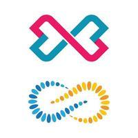ensemble d'images de logo infini vecteur