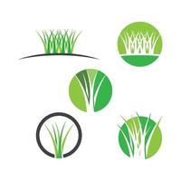 ensemble d'illustration d'images logo herbe vecteur