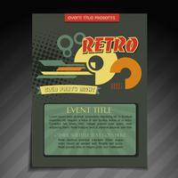 conception de brochures rétro vecteur