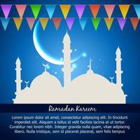 célébration du ramadan kareem vecteur