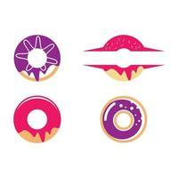 ensemble d'illustrations d'images logo beignet vecteur