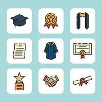 préparation de l'obtention du diplôme de l'université vecteur