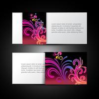 carte florale vecteur