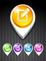 icône de note vecteur