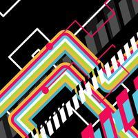 art abstrait disco de vecteur