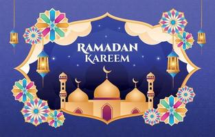 conception d'ornement ramadan kareem vecteur