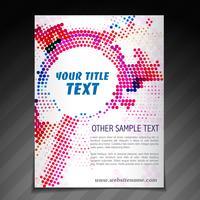 modèle d'affiche flyer brochure moderne vecteur