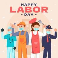 concept de salutation de la fête du travail vecteur