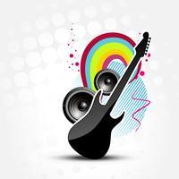 guitare abstraite de vecteur