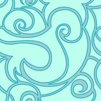 motif turquoise vectorielle continue de spirales et de vagues. texture pour textile et emballage. vecteur