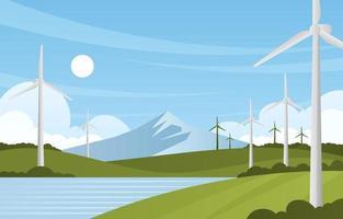 concept de technologie écologique écologique vecteur