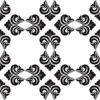motif décoratif vectorielle continue de couleur noire avec des losanges vides sur fond blanc. vecteur