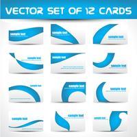 jeu de cartes de visite vectorielles vecteur