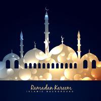 belle mosquée brillante vecteur