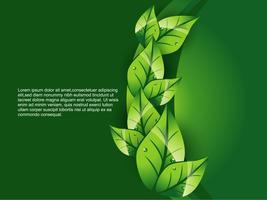 fond de feuille verte vecteur