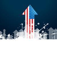 flèche du drapeau américain