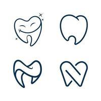 vecteur de logo de clinique dentaire et icône médicale