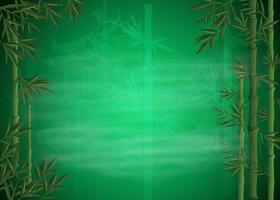 fond de bambou vert vecteur